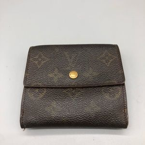 Authentic Louis Vuitton double sided square wallet